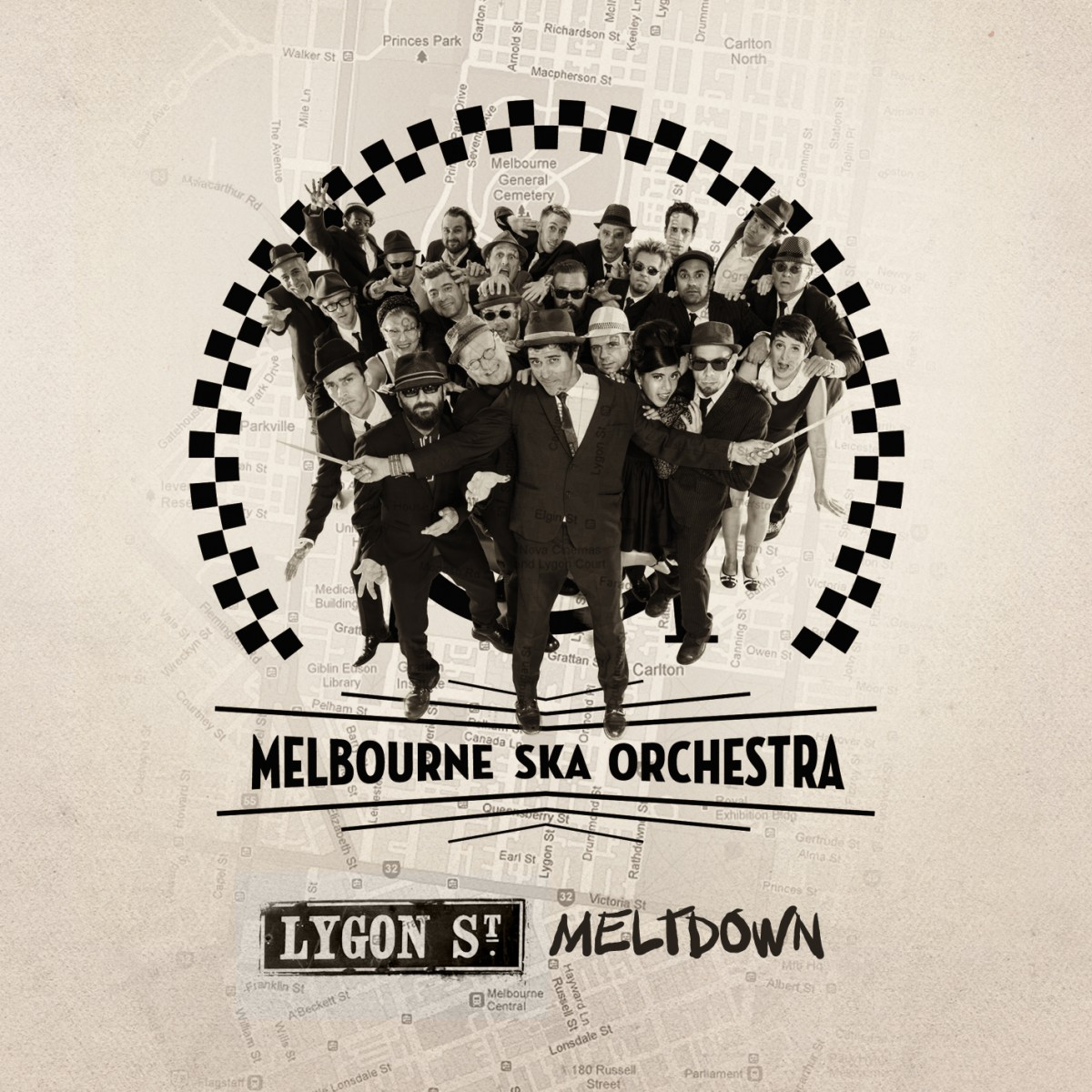 Melbourne Ska Orchestra - Lygon Street Meltdown single cover