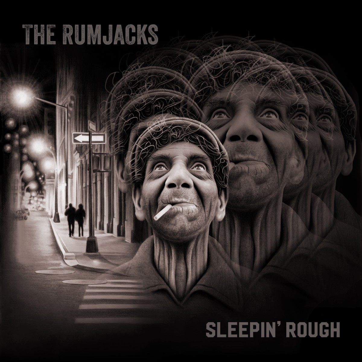 The Rumjacks - Sleepin' Rough - Front Cover