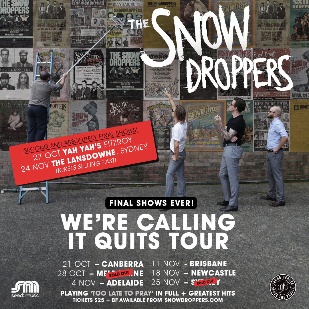 The Snowdroppers Second Shows announcement Instagram