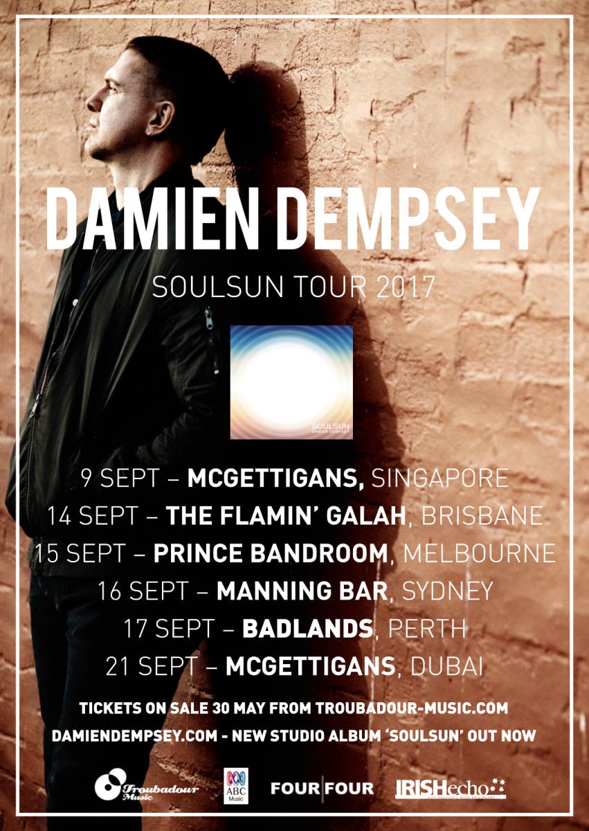 Damien Dempsey - Soulsun 2017 Tour